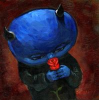 Blue Devil, Red Rose by jasinski