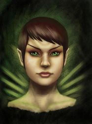 Romulan Portrait by Kissakisan