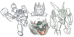 TFP: Magnus and Wheeljack sketches by Fulcrumisthebomb