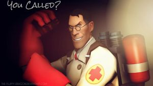 You Called? (TF2 SFM Poster/Wallpaper) by the-fluffy-dragon
