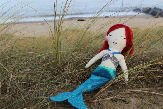 Rag doll - in mermaid form! by StitchItMama