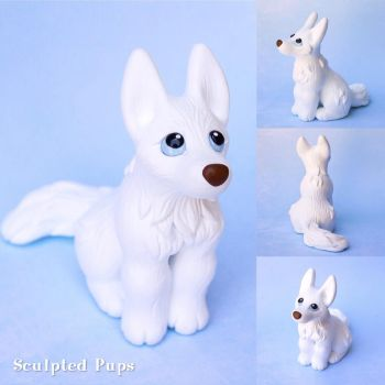 Keira the white husky commission by SculptedPups