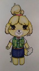 Animal Crossing Isabelle by HylianNeko