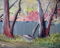 715 Trees At The Pond by mengenstrom