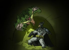 Batman VS Killer Croc by Sabrerine911