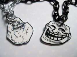 Forever Alone and Troll Face by JennyLovesKawaii