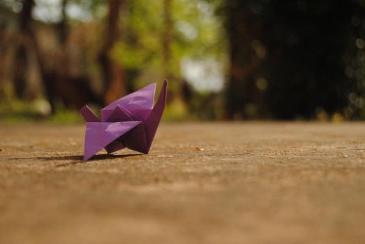 Paper Crane by amber-b-arber