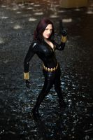 Black Widow in a Fountain 2 by Miracole