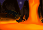 :Commission: River Of Lava by poIarsken