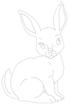 Rabbit Adoptable lineart 1 by Hollena