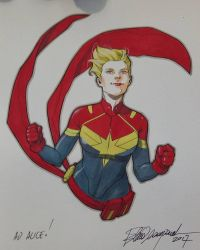 Captain Marvel by elena-casagrande