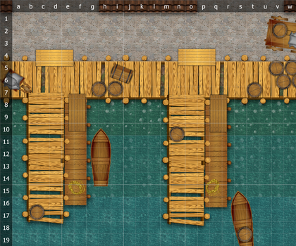 Dungeons and Dragons Encounter Map - Dock - 24x20 by Shenorai
