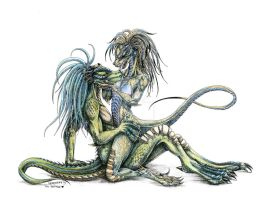 Razor and Szakta - lizard kiss by Herisheft