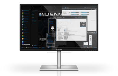 Alienware HQ BLUE Windows 7 Theme by Designfjotten
