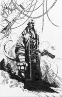 Hellboy - R. Friend - Egli - Inks by SurfTiki
