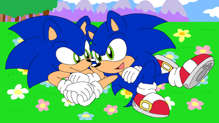 Fake Sonic Anime Screenshot by HeartinaRosebud