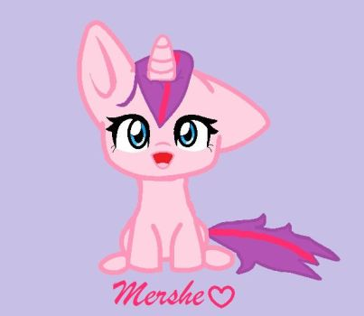 My OC Chibi pony by mershe