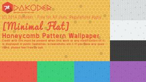 [MinFlat] Honeycomb Pattern Wallpapers (4K) by DaKoder