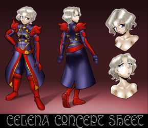 Celena Concept Sheet by Severflame