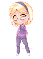 [Commission] Purple Sparkly Chibi by Kawaii-Says-Meow