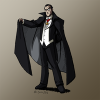 HALLOWEEN 2016 Day 2: Count Dracula by KrisSmithDW