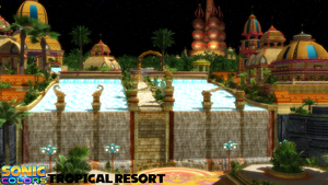 (MMD Stage) Tropical Resort Download by SAB64