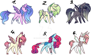 #19 Adoptables - Random Ponies[CLOSED] by AdaKola