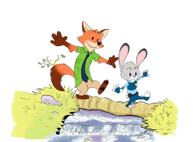 Wilde and Hopps by Quirky-Middle-Child