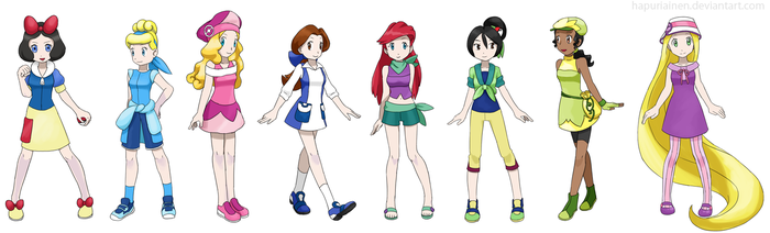 Pokemon Princesses by Hapuriainen