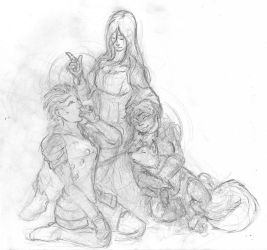 Sketch - POE: Mother and Babes by RDishon