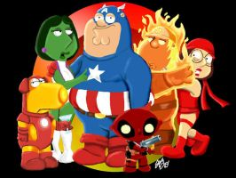 Marvel Family Guy by amydrewthat