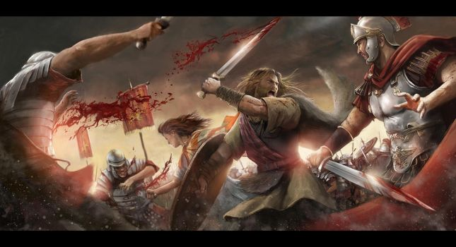 Illustration Rise Fight  by CyrilT