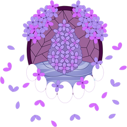 C Lilac Stained Glass by Beadedwolf22