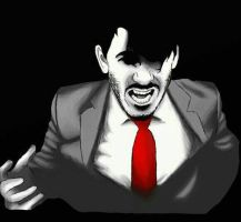 Darkiplier, red suits you by IkraTLP