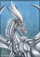 Silver Dragon -Commission by DrakainaQueen