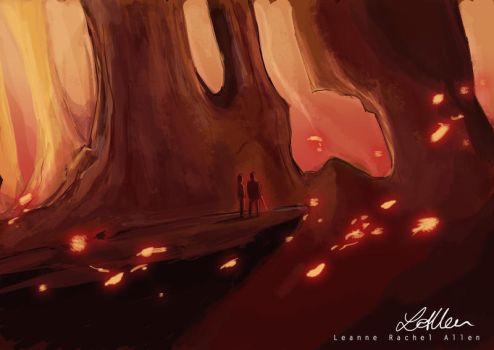 Fine Pit speed painting by LeanneEast