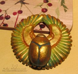 Winged scarab by NelEilis