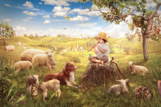 The Little Shepherd by IleenI
