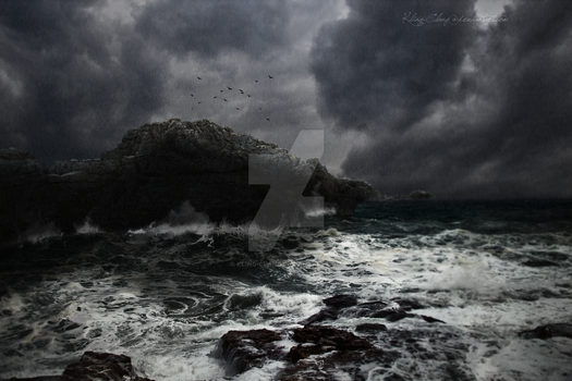 Stormy sea by Kling-Clang