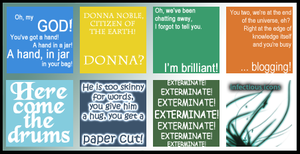 Doctor Who Quotes Icons by 3toh