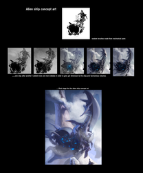 Alien ship - step by step by cristianci