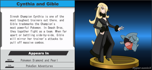 Wii U Trophy - Cynthia and Gible