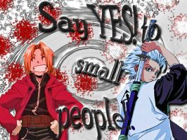 Ed + Toshiro - Small people xD by KaniMoon