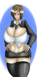 Pinup - Sapphire's Old Uniform. by RefugeInSilence