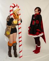 Fun with a giant candy cane by CaptRogers
