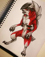 Midnight Lycanroc by Rerree
