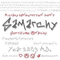 Font - Samarchy by skeddles