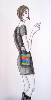 Wilco Crossbody Bag Sketch by Criddlebee