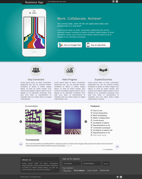 Business App - Landing Page by Gigacore