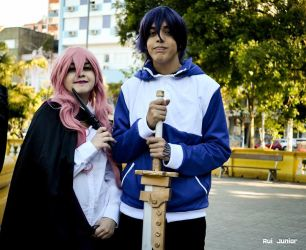 Louise and Saito cosplay by Shaply